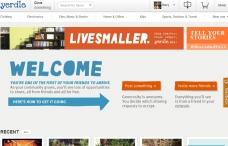 Yerdle homepage. Simple, easy, elegant.